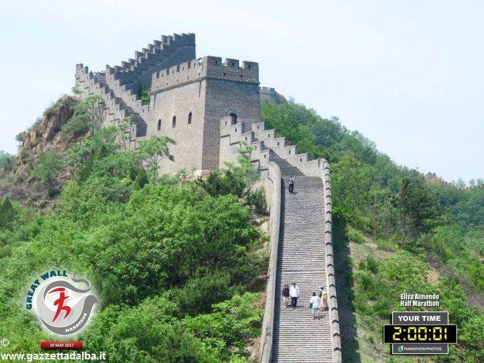 Elisa Almondo, che ha conquistato la grande muraglia cinese 1