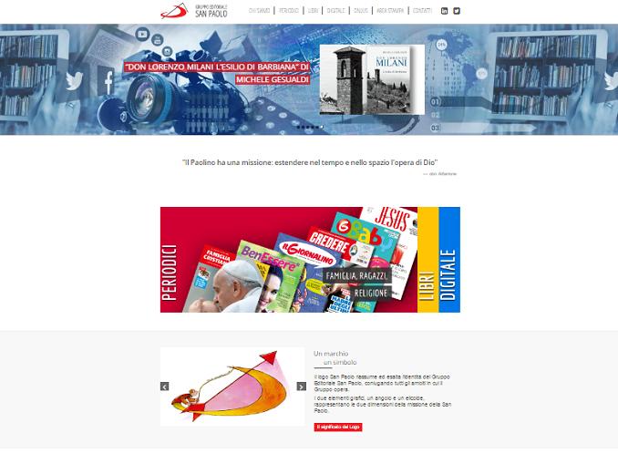 Homepage sito corporate Gruppo Editoriale San Paolo