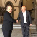 Il Vescovo Brunetti, accompagnato dal sindaco Marello, visita per la prima volta il Municipio