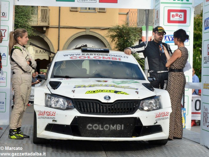 Rally Alba premiazione Secondi da sx Angelica Rivoiro e Marco Colombi 12