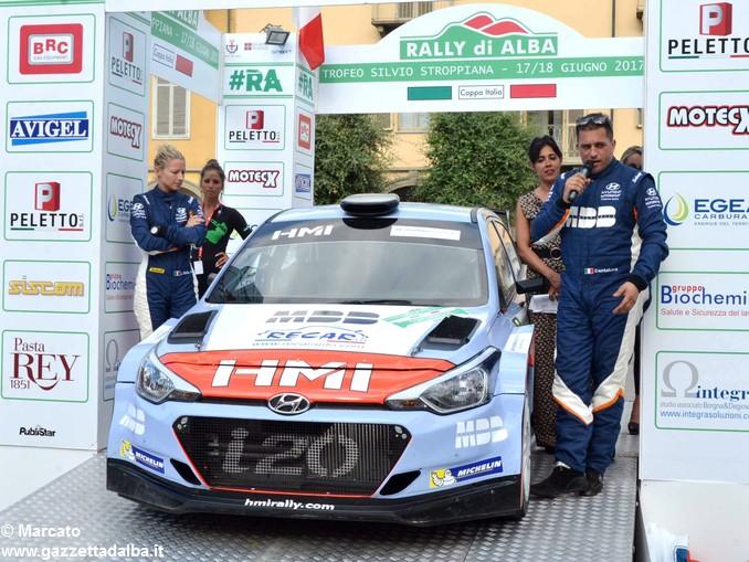 Rally Alba premiazione Terzi da sx Elisa Bollito e Luca Cantamessa 2