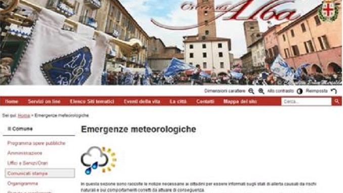 Emergenza caldo: il Municipio di Alba invita i cittadini a consultare i bollettini meteo sul sito di Piazza Duomo