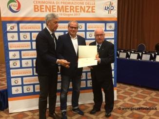 Diploma di benemerenza all'Albese Calcio per i 100 anni di attività