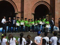 """Quasi mille bambini in piazza Duomo per la """"Festa delle buone energie"""" di Egea"""