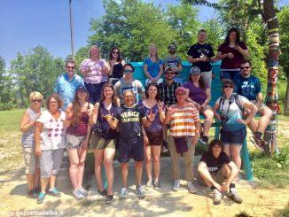 Ospiti americani per la grande panchina accolti dai sordi albesi