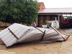 Ceresole: raffiche di vento e grandine causano ingenti danni a colture e abitazioni 9