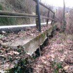Lavori per il consolidamento di un versante stradale in località Altavilla