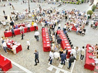 Asti: il debutto del sindaco Rasero in piazza San Secondo