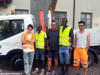 Dai profughi un aiuto ai cantonieri comunali di La Morra