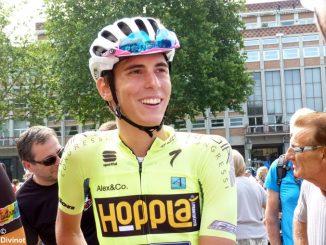 Massimo Rosa al via del prestigioso Giro della Valle d'Aosta