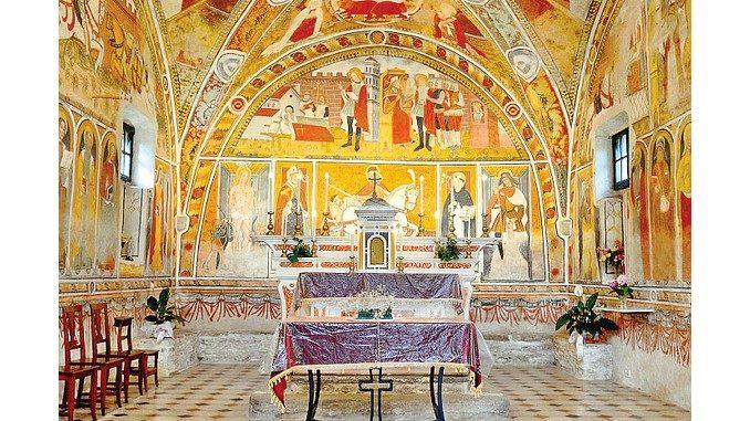 Scoperti affreschi nascosti sotto quelli del '400