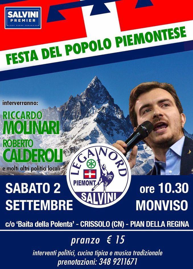 Festa della Lega Nord alle pendici del Monviso