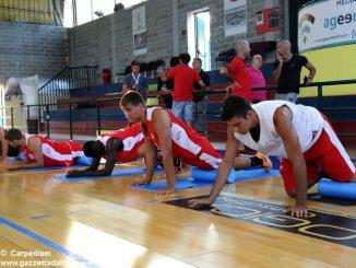 Primo allenamento per l'Olimpo basket. Inizia l'avventura della serie B