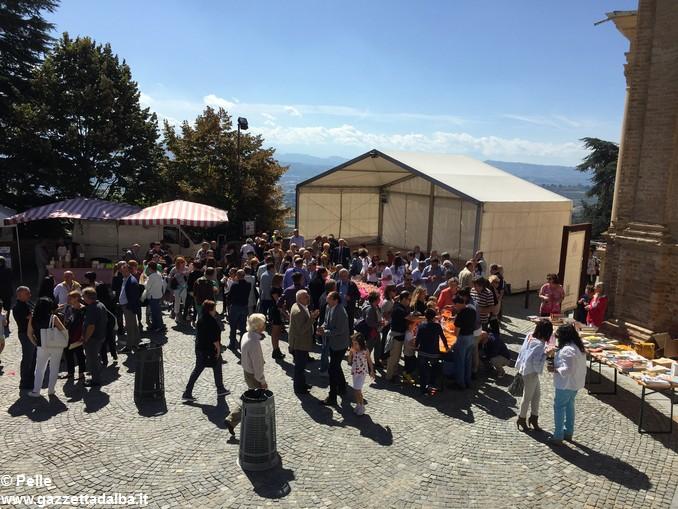 Guarene sagra vendemmiale banchi in piazza (5)