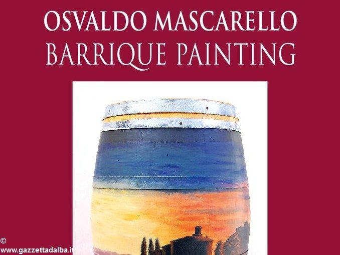 Le barrique dipinte di Osvaldo Mascarello in mostra a La Morra