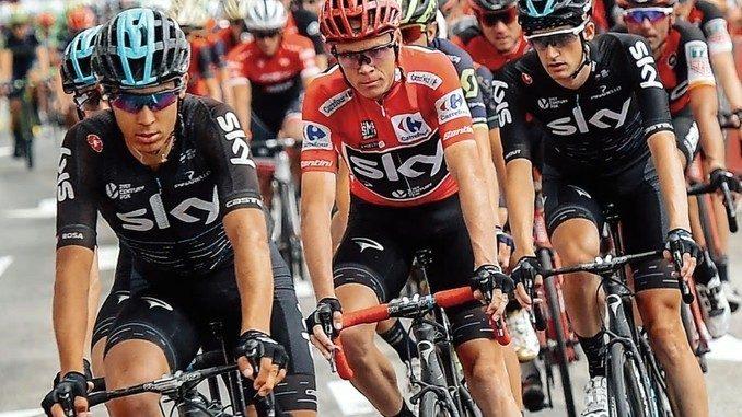 Ultima settimana alla Vuelta con Froome (Team Sky) sempre in maglia rossa