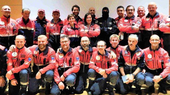 I volontari dell'associazione nazionale Carabinieri