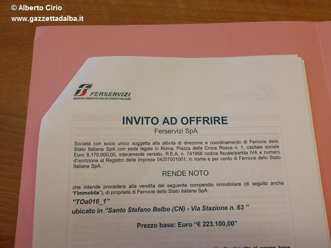 L'invito all'offerta ricevuto dal Comune