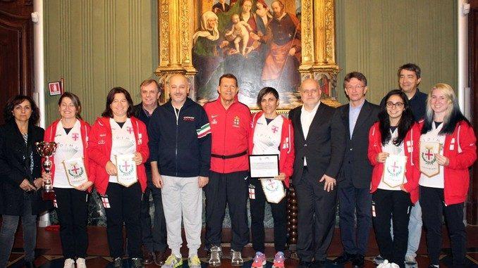 Premiate in municipio ad Alba le campionesse italiane di pallapugno