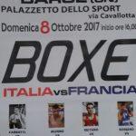 Match di boxe Italia-Francia a Barge