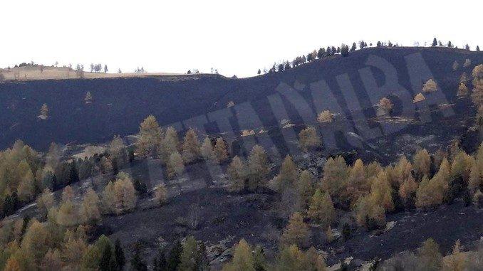 Nel Cuneese bruciate vaste zone delle valli Stura e Varaita
