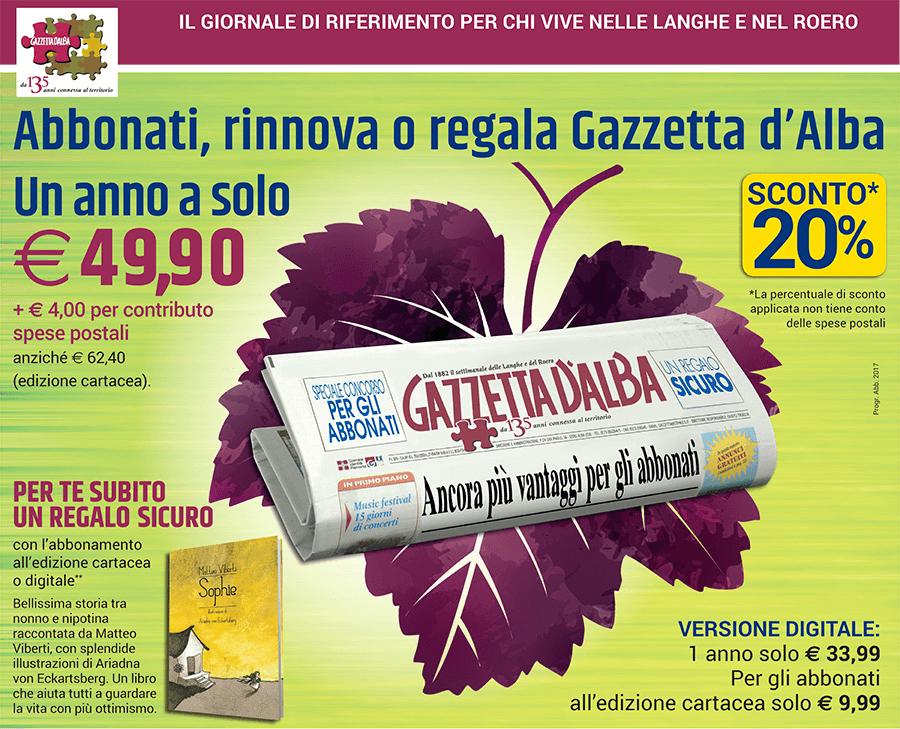 Abbonati a Gazzetta d'Alba
