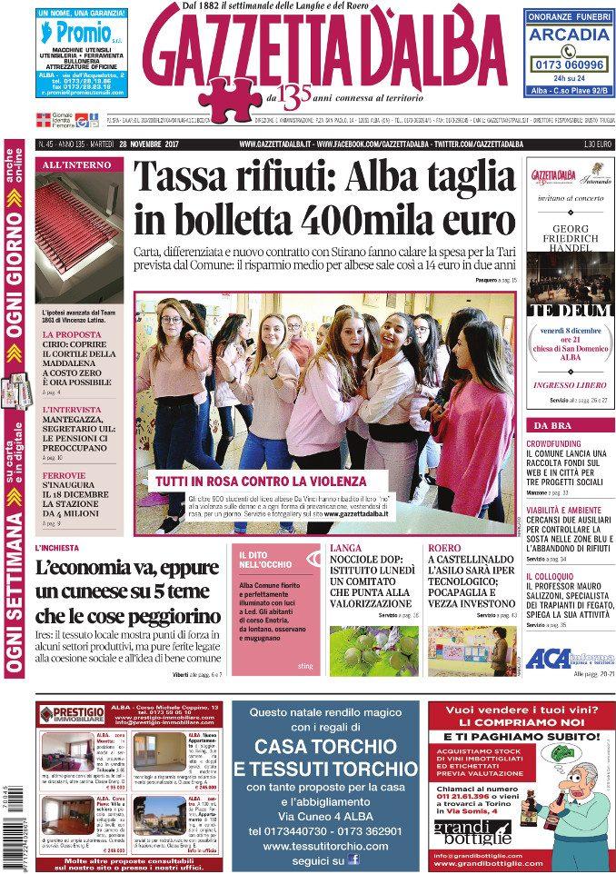 La copertina di Gazzetta in edicola martedì 28 novembre