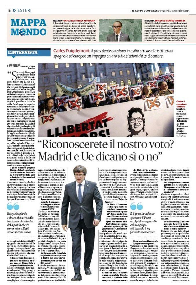 Cabases, ex sindaco di Serralunga intervista Carles Puigdemont