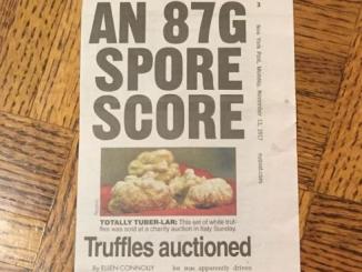 L'Asta del Tartufo protagonista sull'edizione cartacea del New York Post