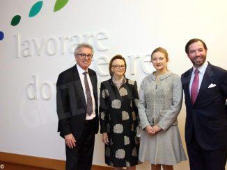 I principi di Lussemburgo e il ministro delle finanze in visita alla Ferrero di Alba