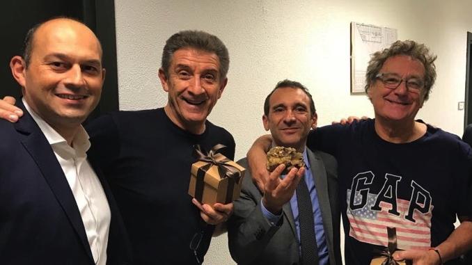 """Marco Scuderi e Luca Sensibile ospiti di """"Striscia la notizia"""" per parlare dell'Asta del tartufo"""