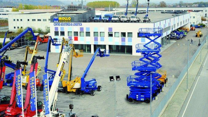 Mollo noleggio ha inaugurato il più grande centro di assistenza e logistica in Italia