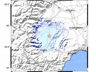 Scossa di terremoto con magnitudo 3.0 ed epicentro a Caramagna Piemonte
