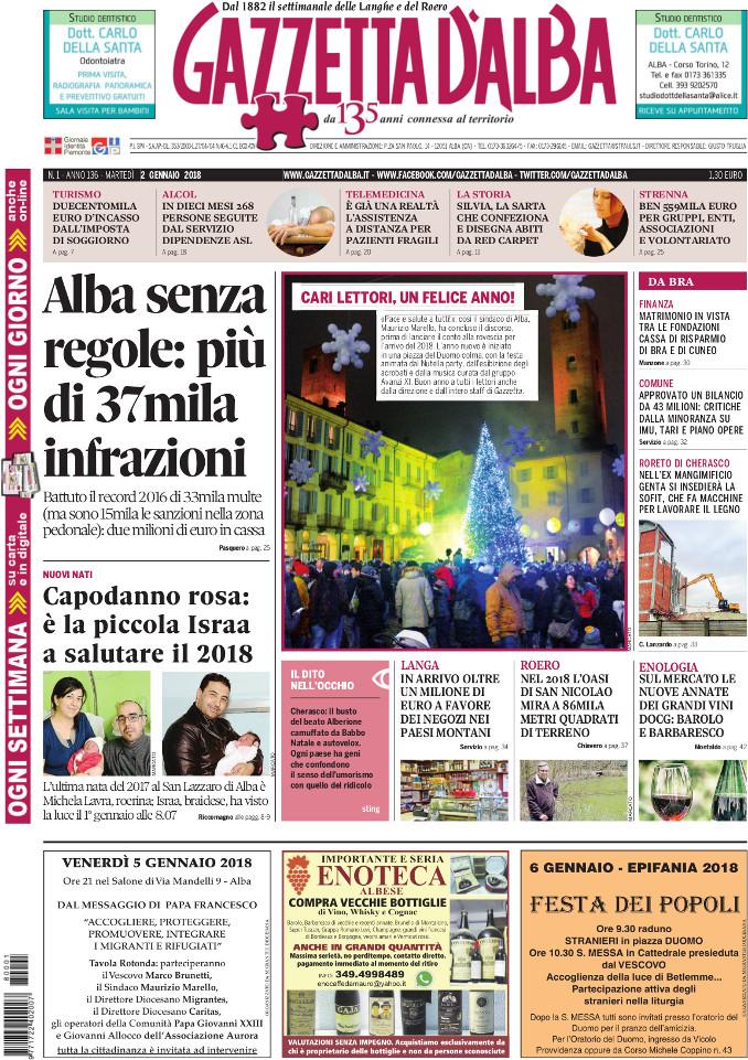 Prima_pagina_Gazzetta_dAlba_n_01_2018