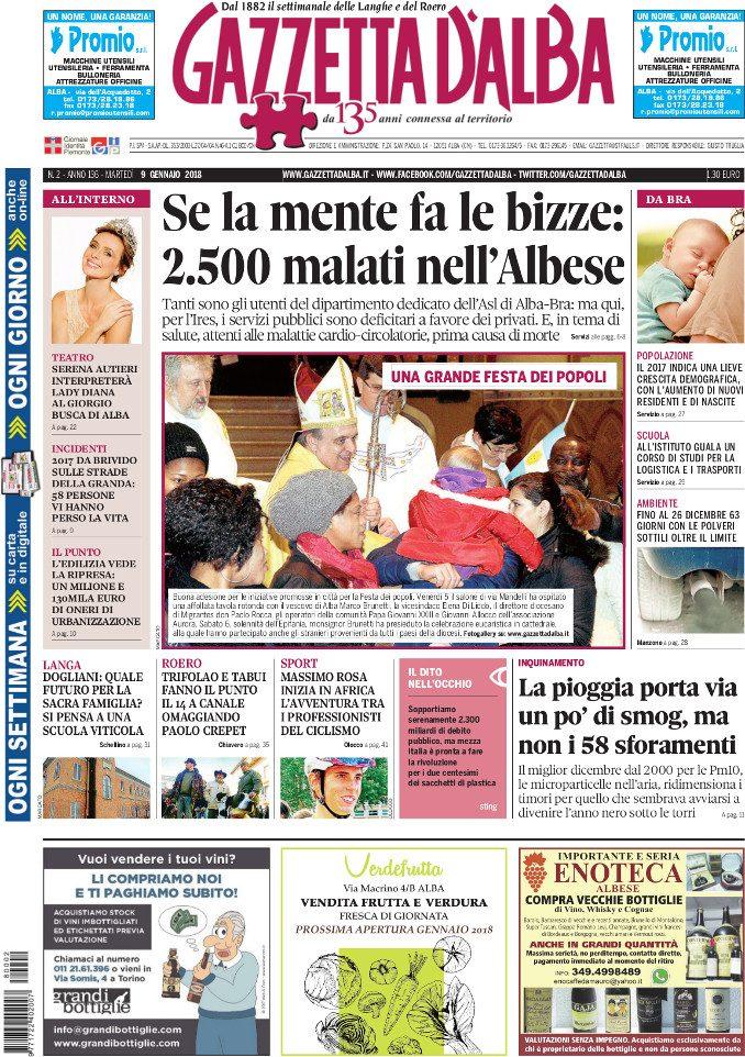 La copertina di Gazzetta in edicola martedì 9 gennaio