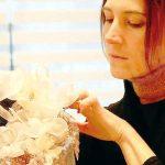 Silvia, la sarta-stilista montatese,  che confeziona abiti da red carpet