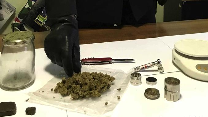 Cortemilia: uomo denunciato per detenzione di 80 grammi di droga