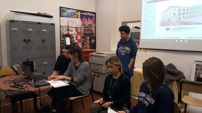 Gli studenti del Velso Mucci speaker e registi di Web radio