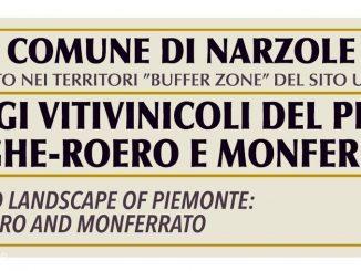 Cartelli per indicare che Narzole fa parte del contesto Unesco