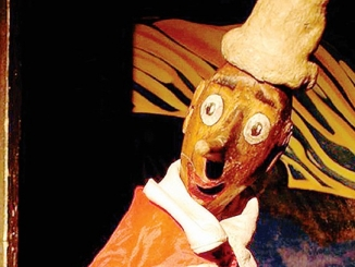 Burattinarte porta Pinocchio al Cinema vekkio di Corneliano