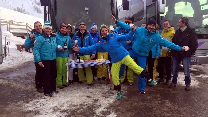 In festa sulle nevi della Riserva bianca con lo Sci club di Canale