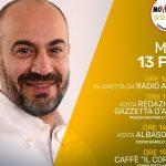 Giornata albese per il giornalista candidato nel M5s Gianluigi Paragone