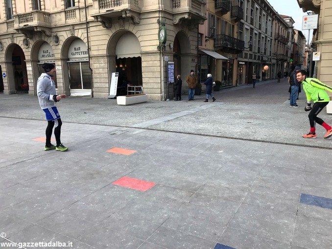 Allenamento in piazza Ferrero ad Alba per Max Vacchetto e Roberto Corino 2