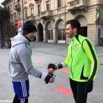 Allenamento in piazza Ferrero ad Alba per Max Vacchetto e Roberto Corino