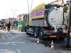 Parte di corso Europa chiusa al traffico per un cedimento stradale