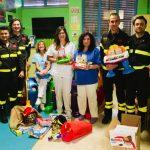 Carnevale con i Vigili del fuoco per i bimbi ricoverati in pediatria