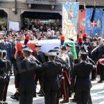 L'ultimo saluto di Canale al carabiniere Alessandro Borlengo