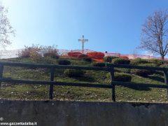 Sono iniziati i lavori alla croce luminosa e al santuario dei Piloni di Montà 6