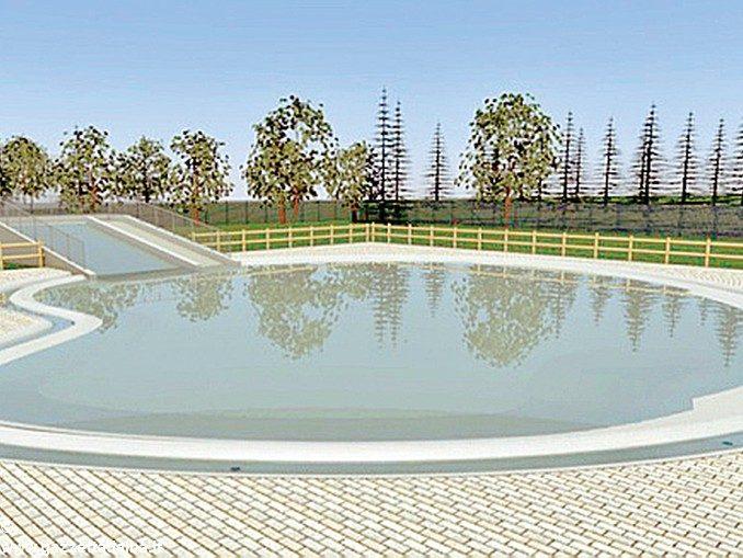 Una nuova vasca tipo laguna all'impianto sportivo di Montà 1