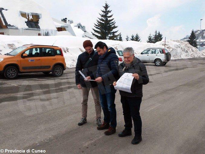 Sopralluogo della Provincia lungo le strade del Giro d'Italia 1